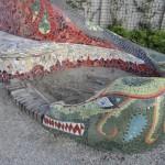 drakenkop rondom zandbak