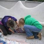 Samenwerken mozaiekbank