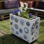 Plantenbak Delftsblauw mozaïek
